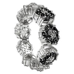 Black Sapphire Blossom Gemstone Trinity Ring