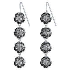Black Sapphire Blossom Gentile Chandelier Earrings
