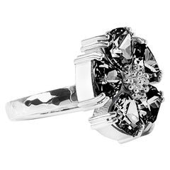 Black Sapphire Blossom Large Stone Ring