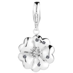 Black Sapphire Blossom Pave Detachable Charm/Pendant