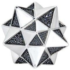 Black Sapphire Tetra Ring