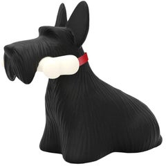 In Stock in Los Angeles, Black Scottie Dog LED Lamp, by Stefano Giovannoni