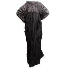 Black Sculptural Column Dress
