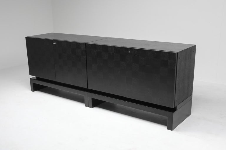 20th Century Black Sectional Credenza by De Coene, Belgium, 1970s For Sale