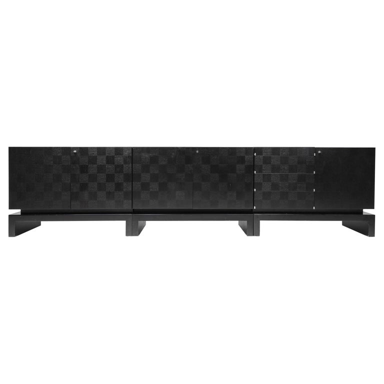 Black Sectional Credenza by De Coene, Belgium, 1970s For Sale