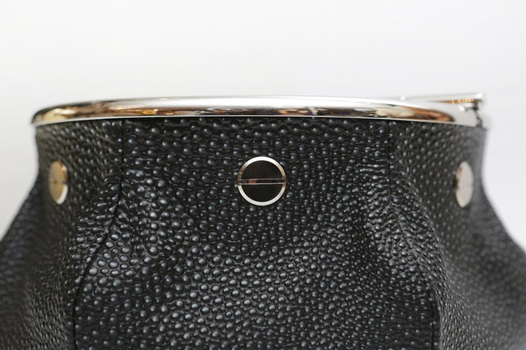 Black Shagreen 2 Cigars Yachting Ashtray For Sale 3