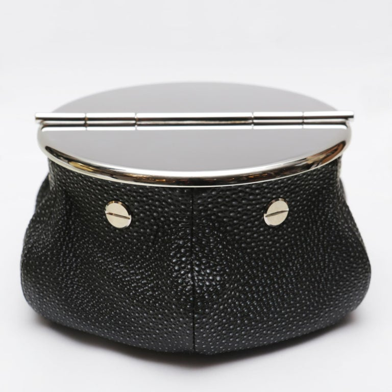 Black Shagreen 2 Cigars Yachting Ashtray In New Condition For Sale In Paris, FR