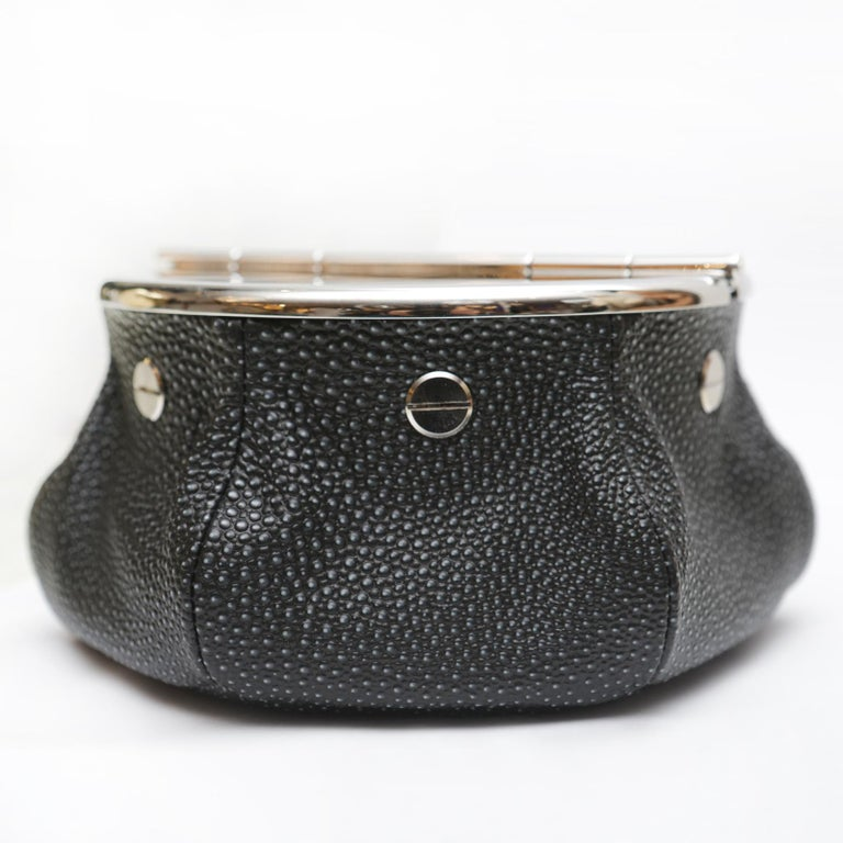 Brass Black Shagreen 2 Cigars Yachting Ashtray For Sale