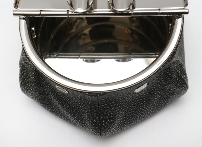 Black Shagreen 2 Cigars Yachting Ashtray For Sale 1