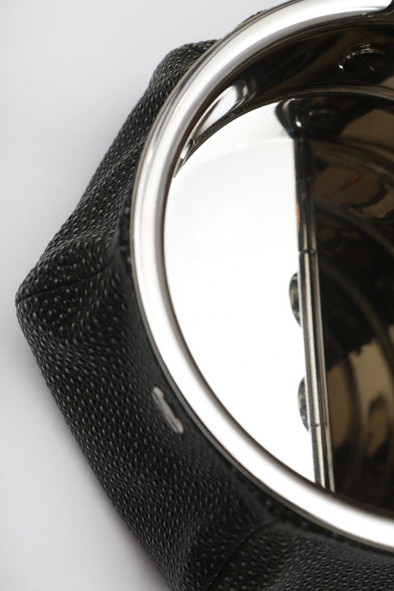 Black Shagreen 2 Cigars Yachting Ashtray For Sale 2