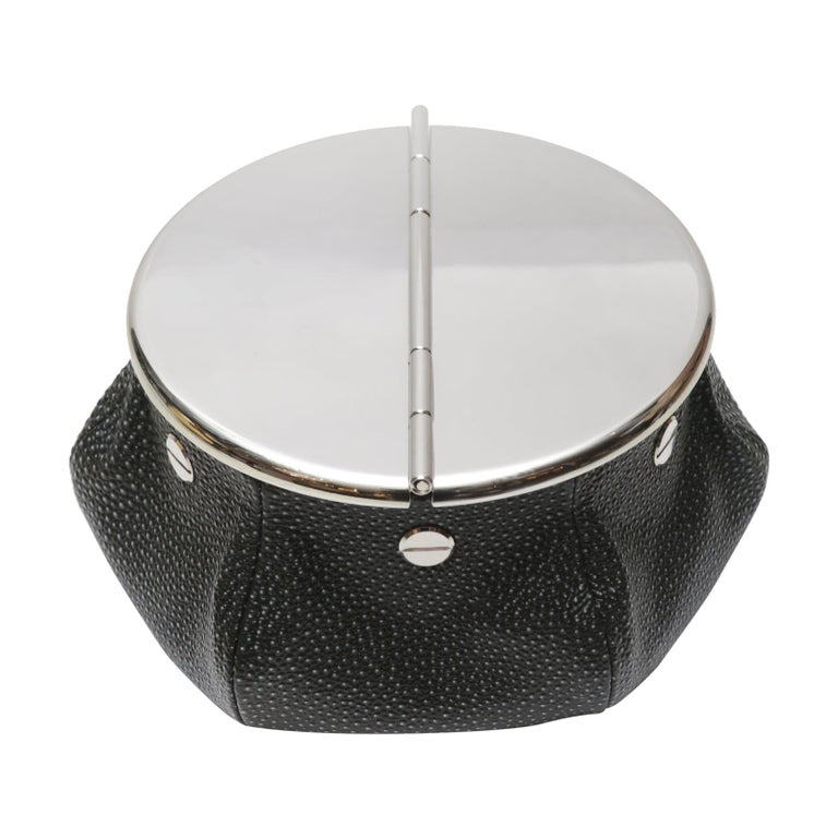 Black Shagreen 2 Cigars Yachting Ashtray For Sale