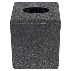 Black Shagreen Tissue Box