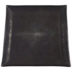 Black Shagreen Tray