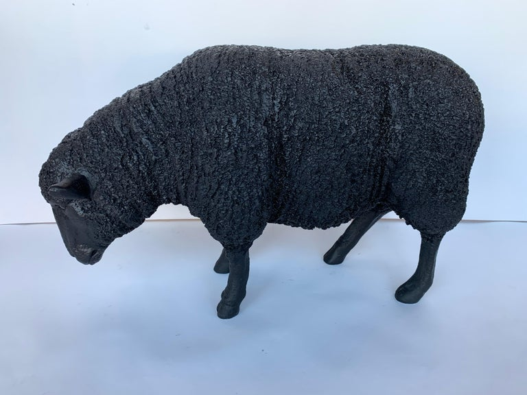 American Black Sheep Sculpture For Sale
