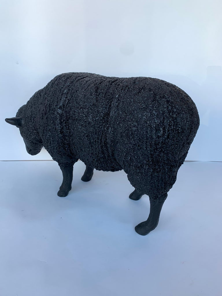 Black Sheep Sculpture In Excellent Condition For Sale In Los Angeles, CA