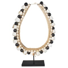 Black Shell Necklace Accessory on Stand