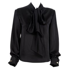 Black silk blouse NWOT