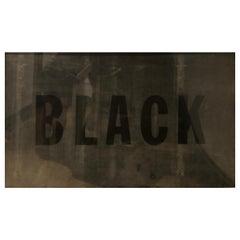 """Black"" Silkscreen on Latex by Barbara Hitz"