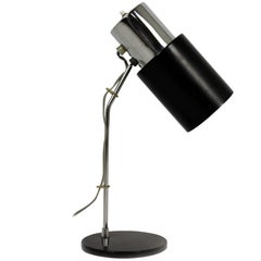 Black and Silver Table Lamp by Josef Hurka for Napako, 1970s