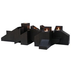 Black Skyline Candle Light in African Walnut by Arno Declercq