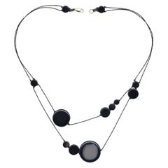 Black Solar Necklace