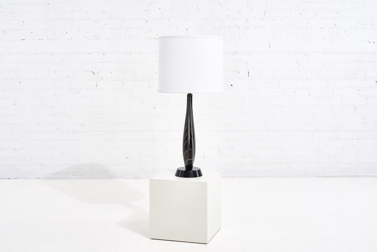 Mid-Century Modern Black Sommerso Murano Lamp by Flavio Poli for Seguso, 1950 For Sale