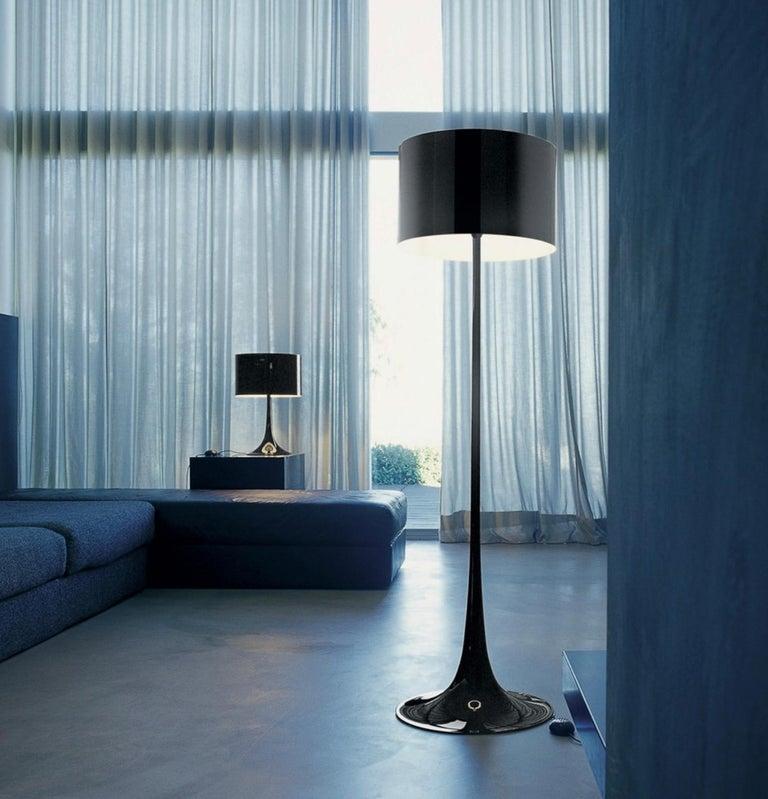 Modern Black Spun Light F Floor Lamp by Sebastian Wrong for Flos, Italy For Sale