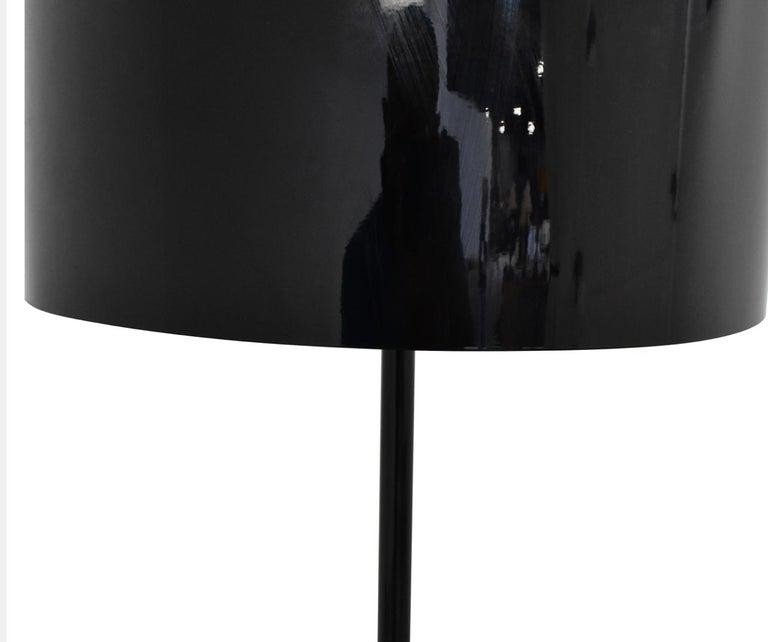 Italian Black Spun Light F Floor Lamp by Sebastian Wrong for Flos, Italy For Sale