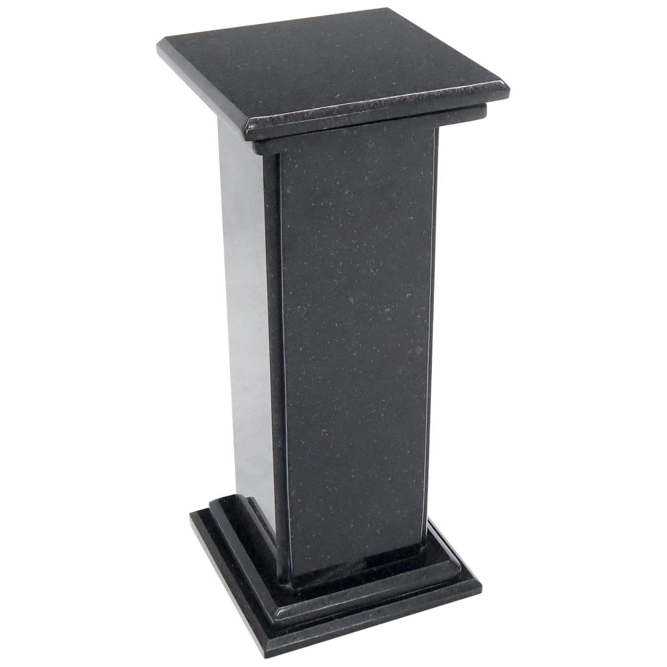 Black Square Granite Pedestal