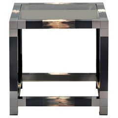 Black Square Side Table