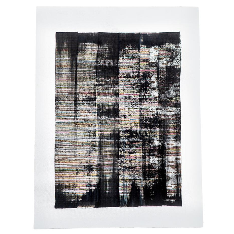 """""""Black Stain"""", Original Mixed-Media Painting on Paper"""