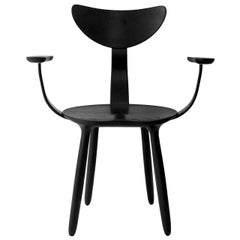 Black Stained Ash Daiku Armchair by Victoria Magniant