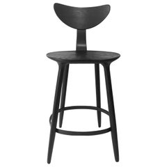 Black Stained Ash Daiku Bar Chair by Victoria Magniant