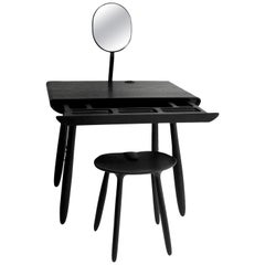 Black Stained Ash Daiku Vanity Table by Victoria Magniant