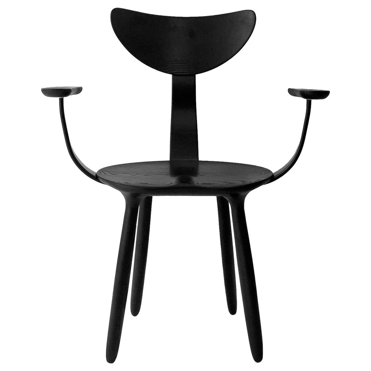 Black Stained Ash Daiku Armchair by Victoria Magniant, Galerie V