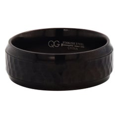 Black Stainless Steel Hammered Band