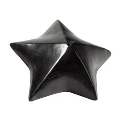 Black Star Ceramic Sculpture by Nadia Pasquer French Mid Century Design