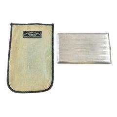 Black Starr & Gorham Sterling Silver Cigarette Case, Monogram, Original Pouch