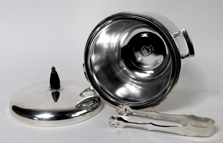 Black Starr Silver Plate Ice Bucket For Sale 4