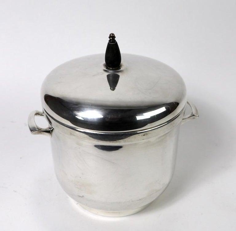 Art Deco Black Starr Silver Plate Ice Bucket For Sale
