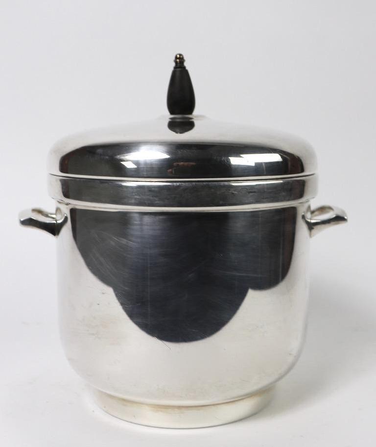 American Black Starr Silver Plate Ice Bucket For Sale