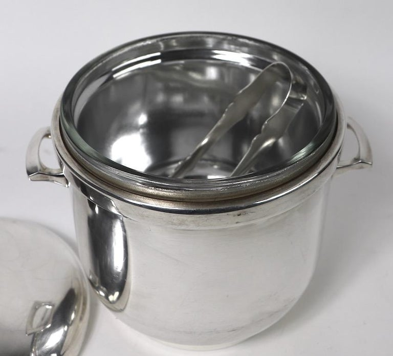 Black Starr Silver Plate Ice Bucket For Sale 2