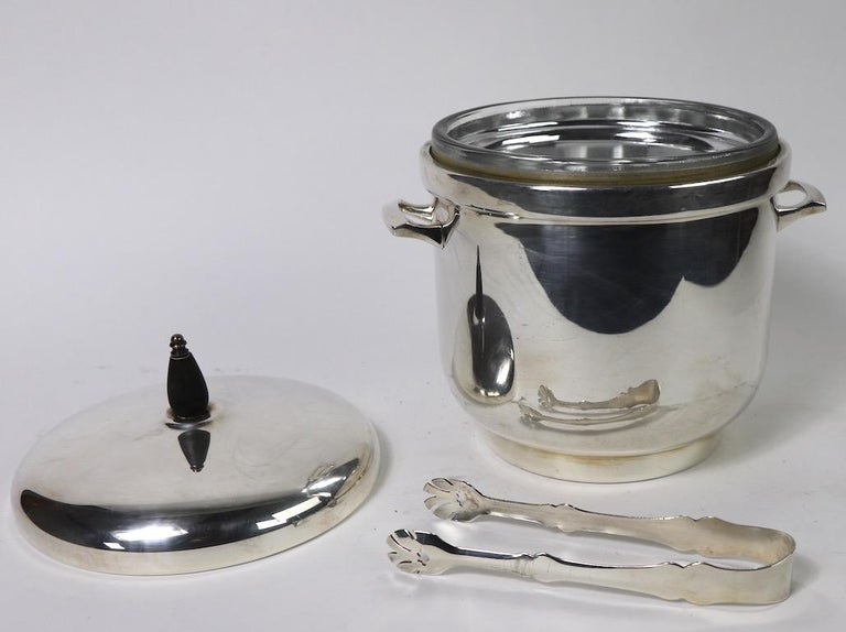 Black Starr Silver Plate Ice Bucket For Sale 3