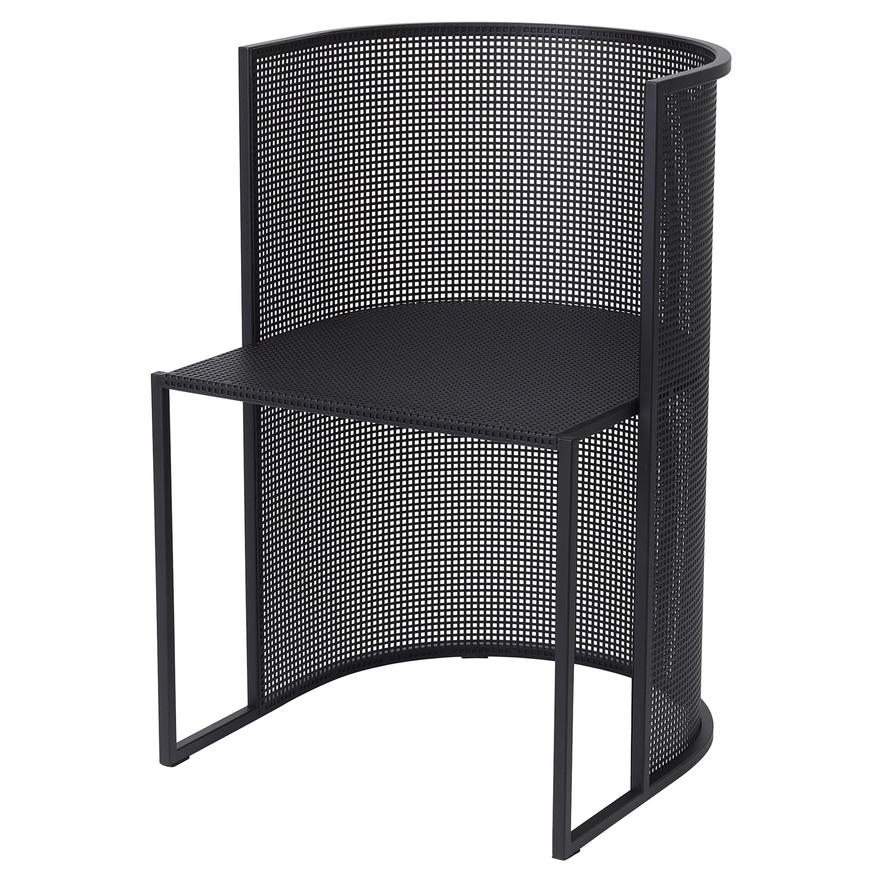 Black Steel Bahaus Dining Chair by Kristina Dam Studio