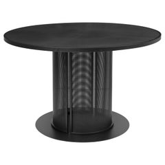 Black Steel Bahaus Dining Table by Kristina Dam Studio