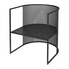 Black Steel Bahaus Lounge Chair by Kristina Dam Studio