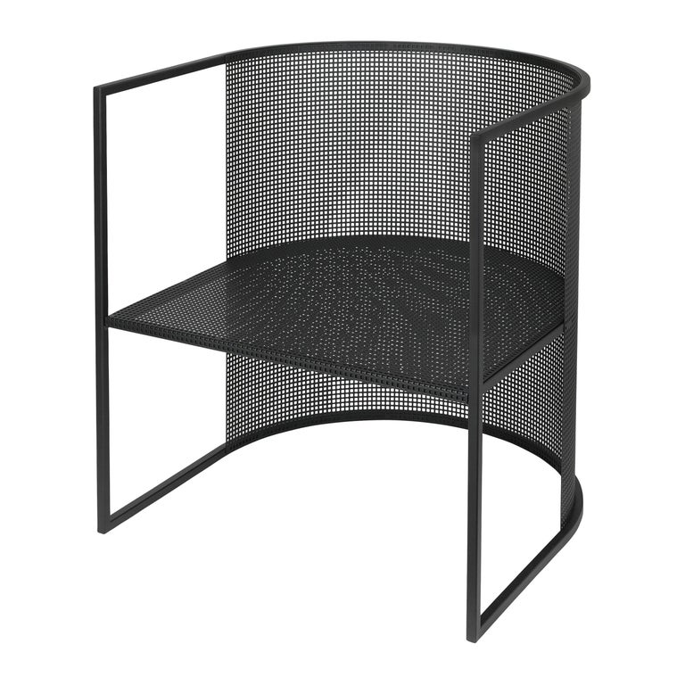 Black Steel Bahaus Lounge Chair by Kristina Dam Studio For Sale