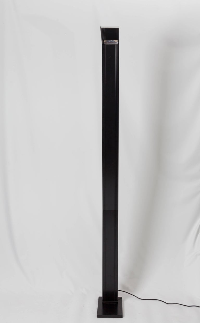 Post-Modern Black Steel Floor Lamp Marked