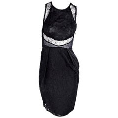 Black Stella McCartney Lace Sheath Dress