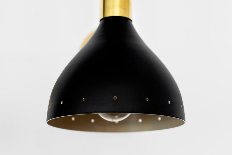 Black Stilnovo Style Sconces In New Condition For Sale In Los Angeles, CA